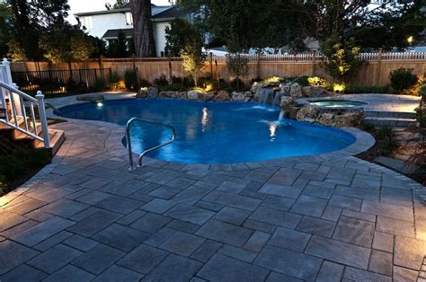 pool patio and spa set spillover custom spas