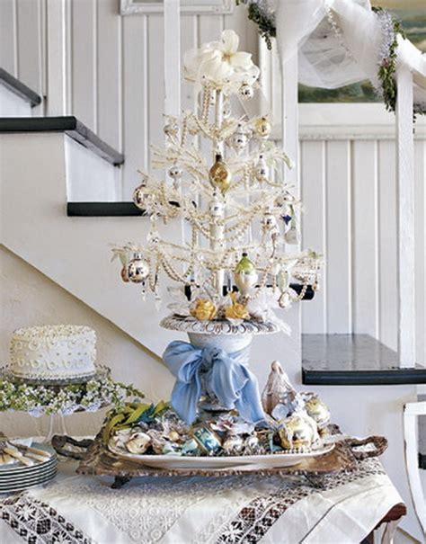 table top white christmas tree elegant white table top christmas tree homesfeed
