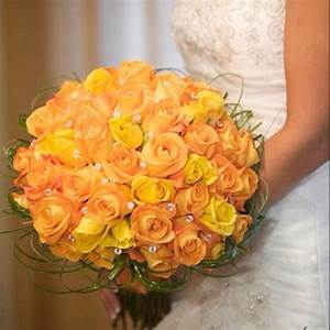 Orange / yellow rose bridal bouquet | Clothes/Shoes ...