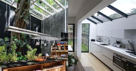 atap kaca  dapur modern pasang kanopi kaca tempered