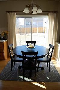 how to place a rug with a round dining table With dining room rug round table