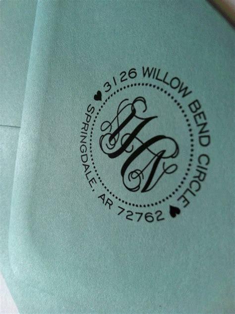 Monogrammed Return Address Stamp