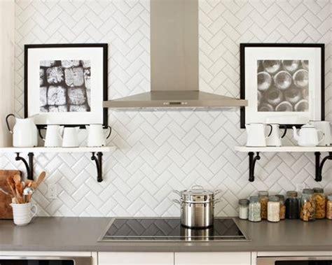Herringbone Subway Tile Backsplash Home Design Ideas
