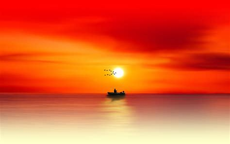 sunset seascape  wallpapers wallpapers hd