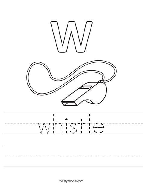 whistle worksheet twisty noodle