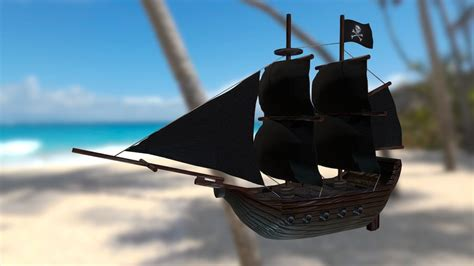 pirate ship fbx    model  raynsideways