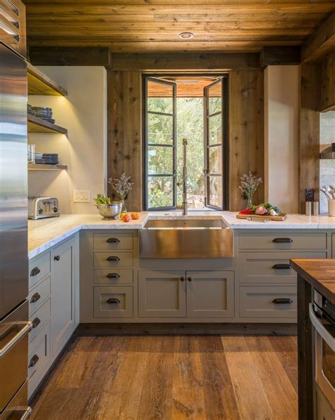 Rustic farmhouse kitchen ideas kitchen rustic with marble counter open shelves marble counter