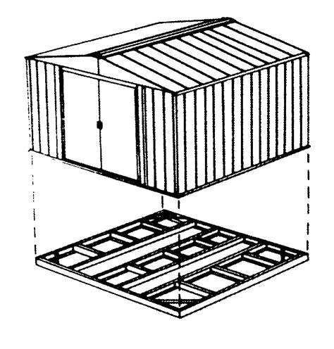 chalet jardin boutique kit de fondation pour abri en mtal gh65