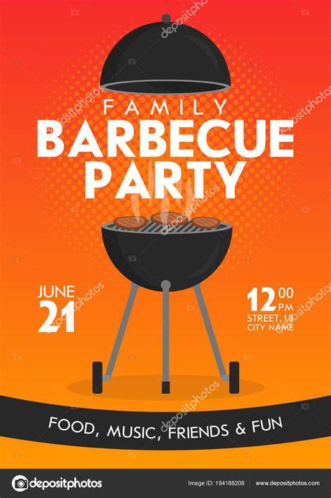 Modèle de conception belle vecteur barbecue party