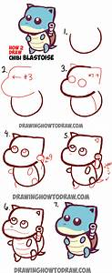 Learn How to Draw Cute Baby Chibi Blastoise from Pokemon ...