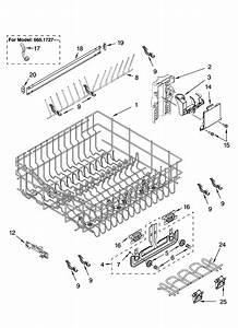 Kenmore Elite Dishwasher Upper Rack And Track Parts