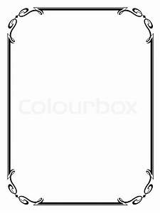 Simple ornamental decorative frame | Stock Vector | Colourbox