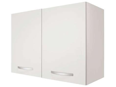 cuisine omer meuble haut 80 cm 2 portes spoon coloris blanc vente de