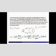 An Angular Velocity Problem Youtube