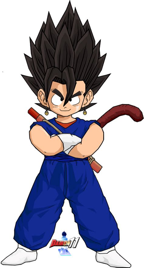 kid vegetto tenkaichi style by dairon11 on deviantart