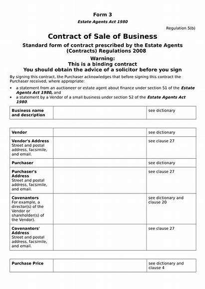Contract Business Form Forms Pdf Doc Word