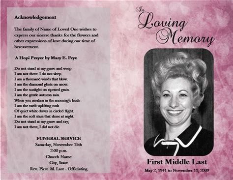 free funeral templates 7 best images of free printable memorial service program template free funeral program