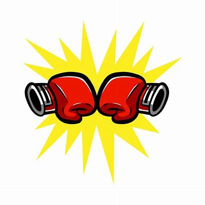 Boxing Gloves Punching Vector Clipart Related Graphics
