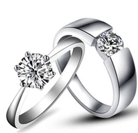 wedding ring pair design amazing design real solid 18k 750 white gold rings simulates lover s wedding