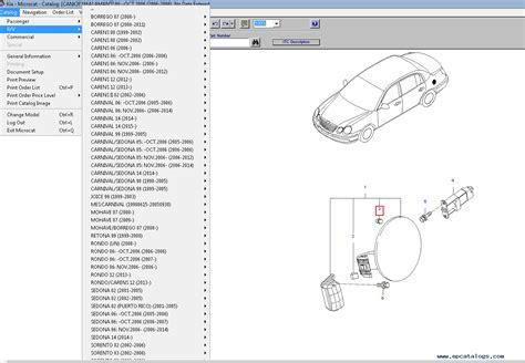 Kia Spare Parts by Kia Microcat 2016 Spare Parts Catalog Spare Parts Catalog