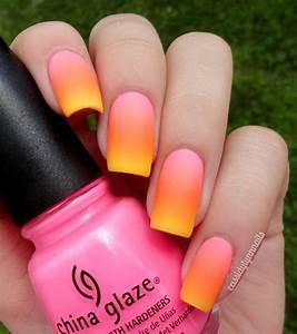 Summer Neon Gradient Nail Art ♥ | Cassidy Lynn Nails