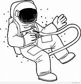 Astronaut Coloring Pages Realistic Drawing Spaceship Space Nasa Clipart Line Crayola Printable Cute Getdrawings Helmet Clipartmag sketch template