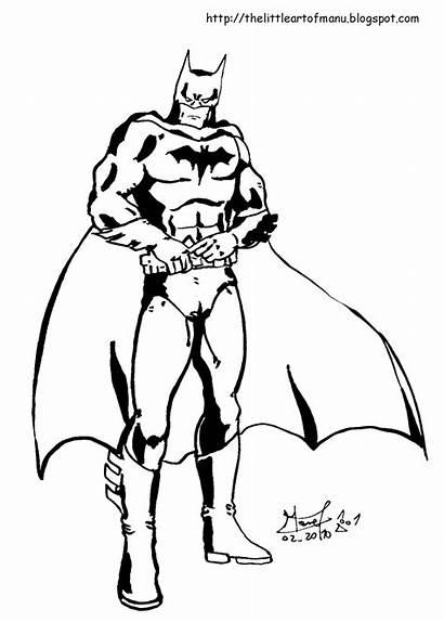 Batman Coloring Justice League Pages Printable Childrens