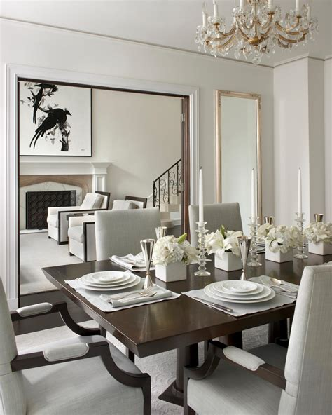 transitional chandeliers for dining room white transitional dining room with chandelier hgtv