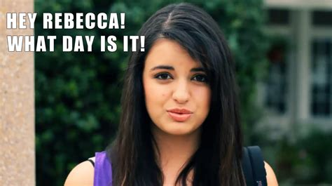 Rebecca Black Friday Meme - its friday rebecca black meme www imgkid com the image kid has it