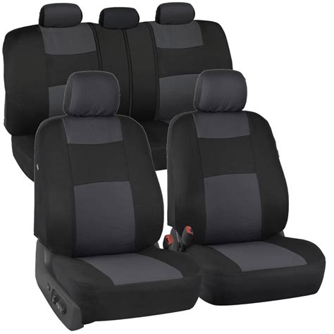 Bench Seat Covers For Cars by Charcoal Car Seat Covers For Sedan Suv Truck Set Split