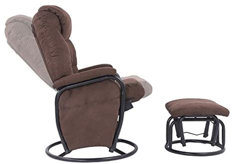 rocker glider recliner with ottoman merax 360â swivel fabric recliner glider rocking living