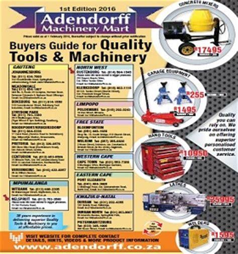 adendorff machinery mart catalogue specials