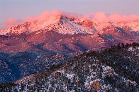 pikes peak rart range colorado photo mountain hill