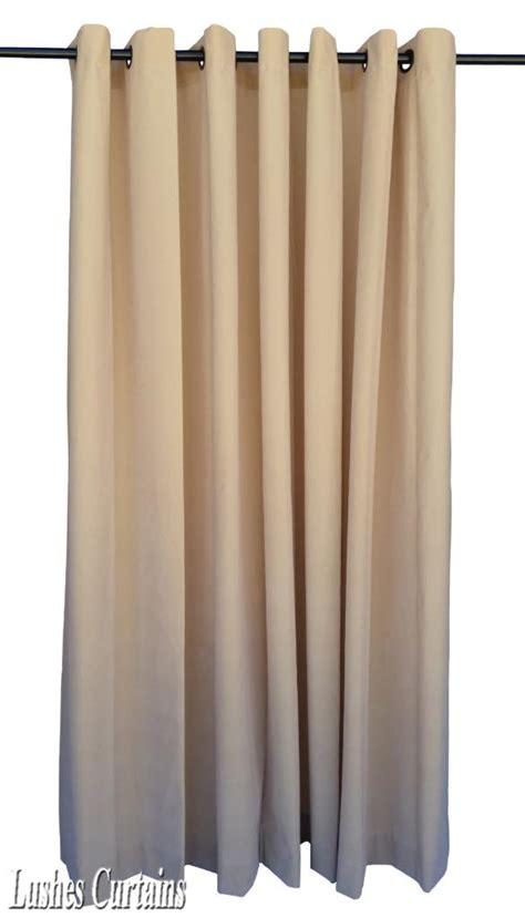 beige 72 inch velvet curtain panel w ring grommet top