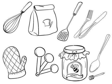 Coloring Utensil by Food Preparation Utensils Coloring Page