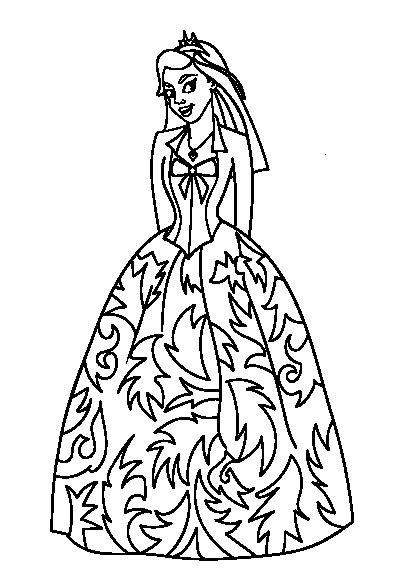 دانلود کتاب رنگ آمیزی پرنسس برای کودکان   Princess coloring, Color