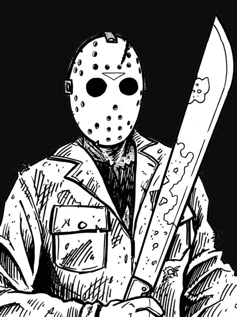 jason voorhees coloring pages  getcoloringscom  printable colorings pages  print