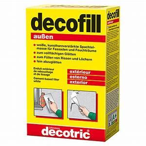 Spachtelmasse Für Aussen : decotric zement spachtelmasse decofill au en 1 kg bauhaus ~ Orissabook.com Haus und Dekorationen