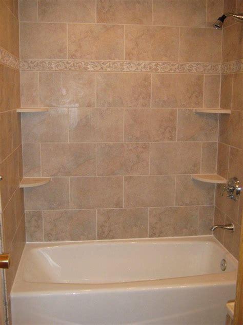 bathroom tub tile ideas bathtub walls or do we rip out the tub and shelving unit