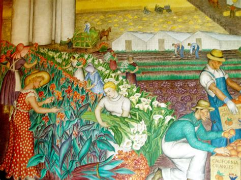 coit tower murals images file coit mural agriculture jpg wikimedia commons