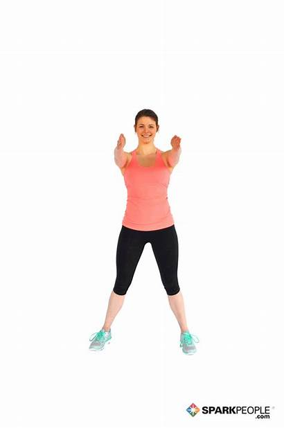Step Touch Exercise Double Punches Exercises Sparkpeople