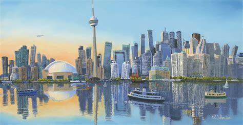 City At Night Wallpaper Toronto Skyline Funky Robert The Artist
