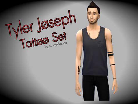 Saraadianee's Tyler Joseph Tattoo Set