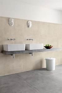 carrelage salle de bain gris et beige With salle de bain beige et gris