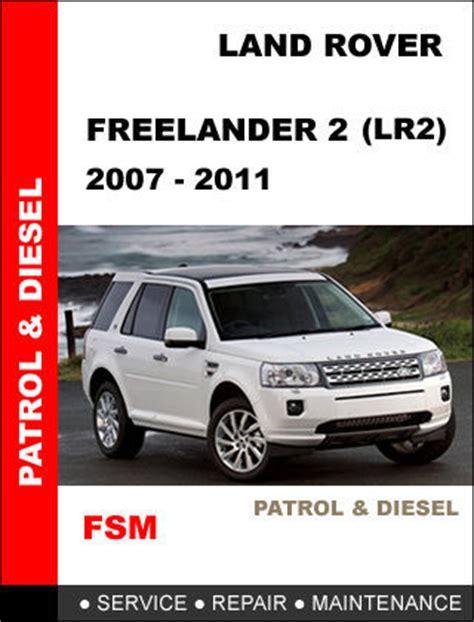 Land Rover Freelander 2 2011 Workshop Repair Manual Pdf