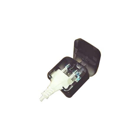 flat to uk converter 2 to 3 pin adapter black ebay