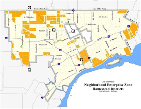 detroit nez michigan zones map residents property tax neighborhoods state apply information extended relief exemption applying must through