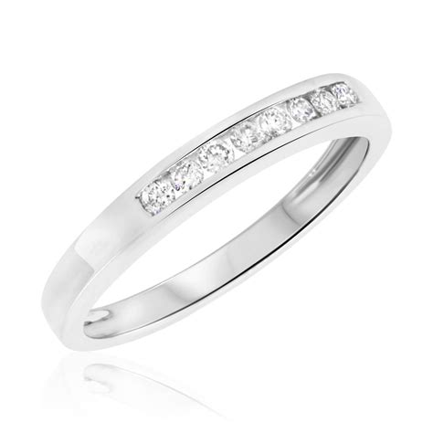white gold womens wedding bands