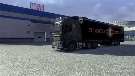 volvo trailer for iron man skin trailer for volvo euro truck simulator 2