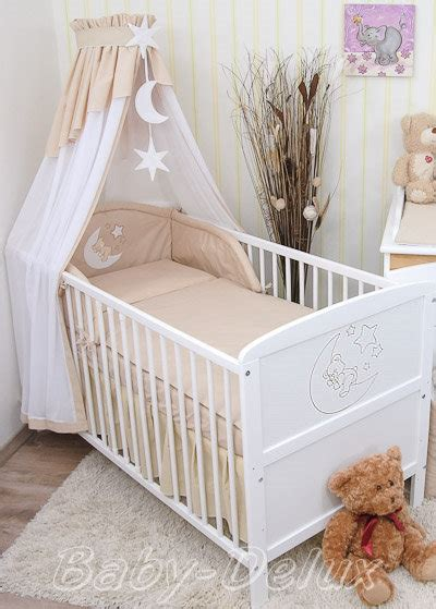 baby himmel bettset baby bettw 228 sche himmel nestchen bettset mit applikation 100x135cm neu ebay